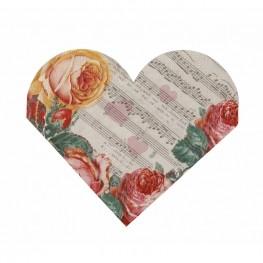 Servietten Herz Romantik
