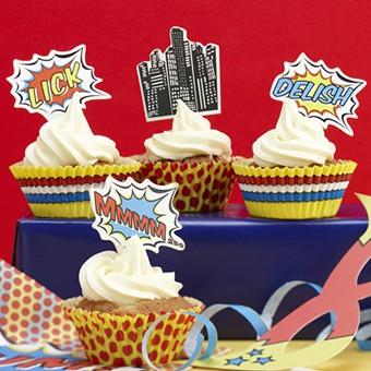 Cupcake Set Superheld Hero