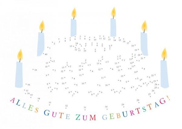 Postkarte Kuchen Alles Gute zum Geburtstag
