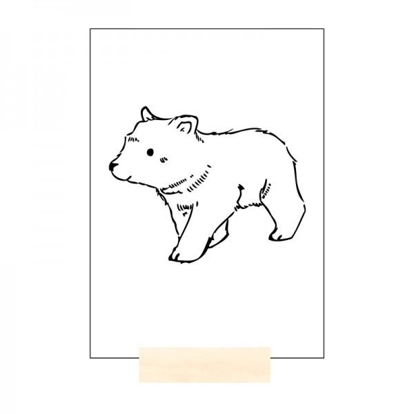 Postkarte MINI Bear Bär schwarz
