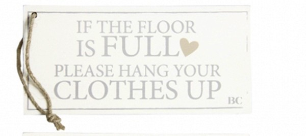 "Bastion Collections Holzschild "" If the floor is full"""