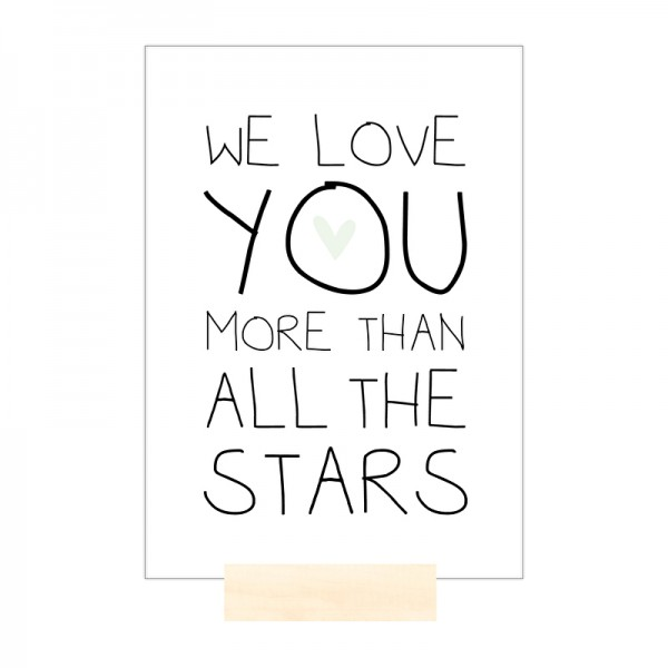 POSTKARTE We love you more than all the stars