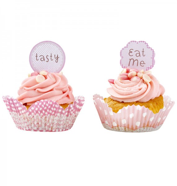 Muffinförmchen Set pink mit Toppers