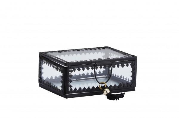 Glas-Box Metall ORIENT mit Tassel 2 Größen