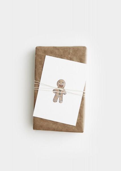 Gingerbreadman Postkarte Print Handmade