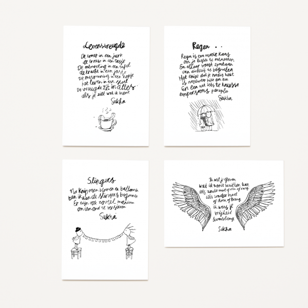 Postkarte  Poetry Card SUKHA Amsterdam