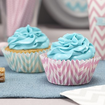 Cupcake Cases Chevron mint und rosa