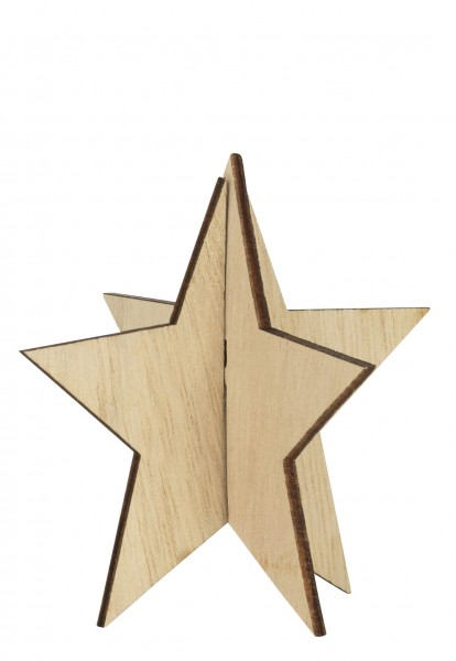Holz Stern stehend natur