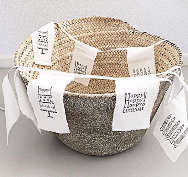 Geburtstag Girlande Bunting BIRTHDAY Baumwolle handmade