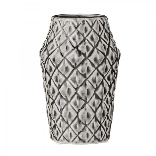 Bloomingville NEU Porzellan-Vase Square Structure Cool Grey
