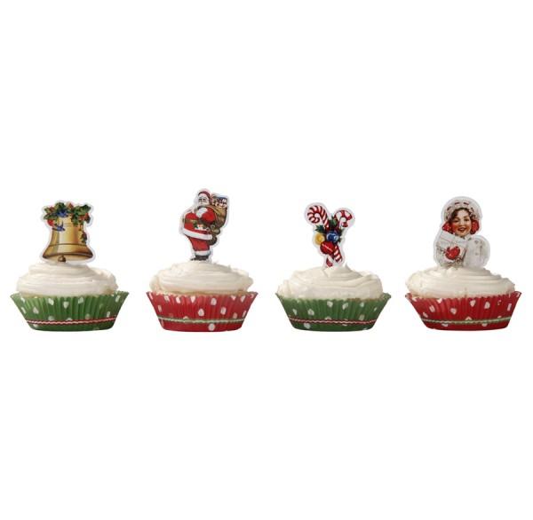 Cupcake Set Einstecker Muffins Weihnachten