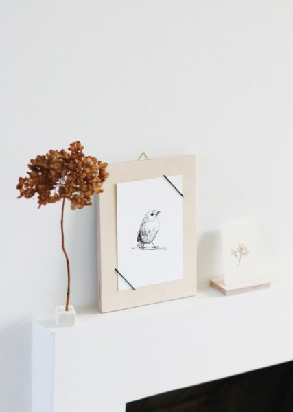 Bilderrahmen Kartenhalter Holz incl. Posterkarte Handmade 2 Ausführungen