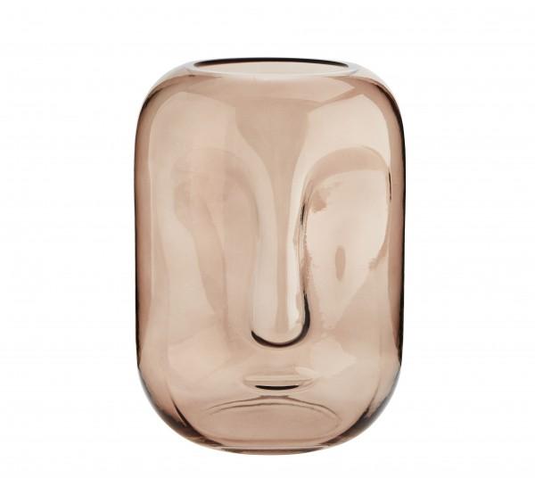 Vase Blumenvase Glas FACE rosa