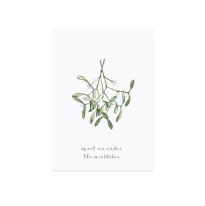 Weihnachtskarte Postkarte Mistletoe