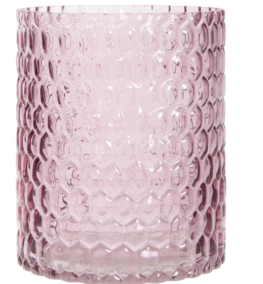 Windlicht rosa Glas Vase Ib Laursen