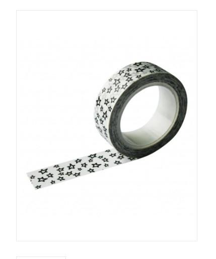 Masking tape weiß mit schwarzen Sternen