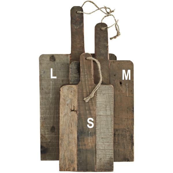 HANDMADE Holz Schneidebrett recyceltes Holz 3 Größen