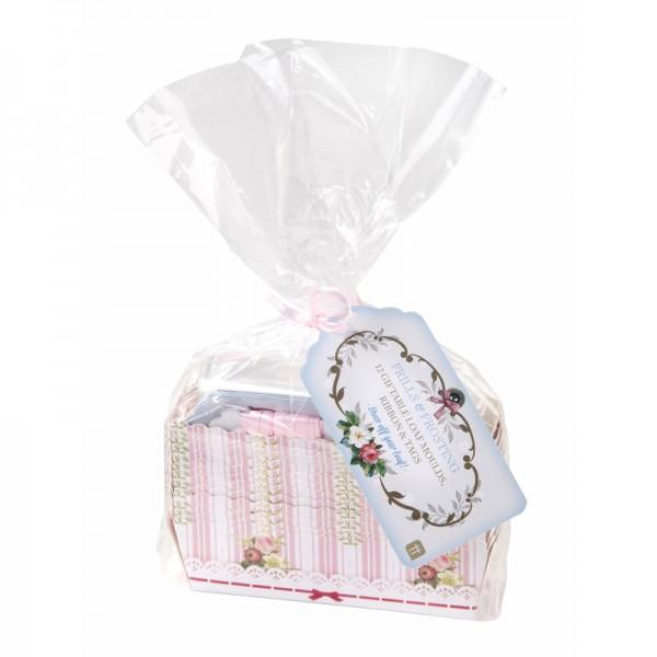 12 kleine Kuchenbackformen incl. Geschenkverpackung