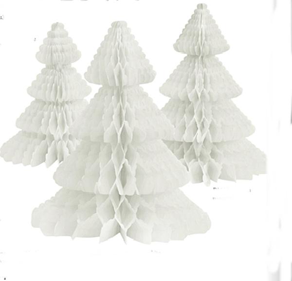 Miss Étoile Papier- Tannenbaum Deko weiß