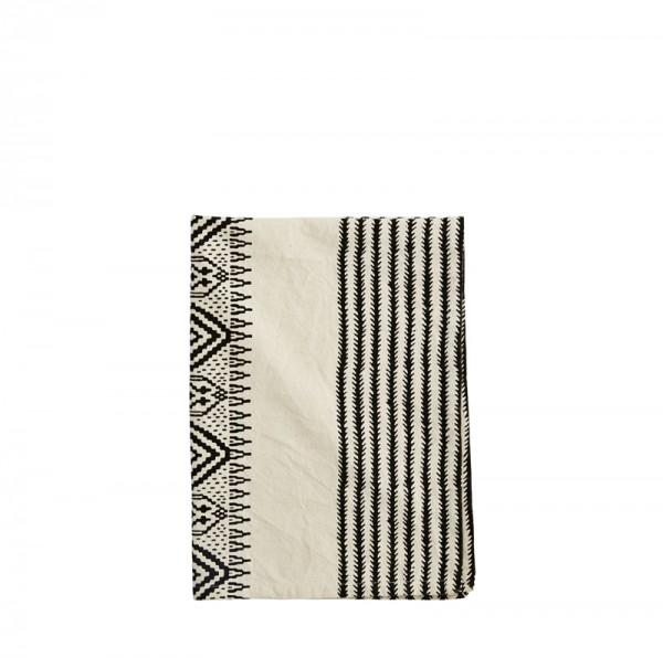 Madam Stoltz Tea Towel Handtuch Küchenhandtuch schwarz-weiß