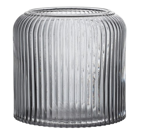 Bloomingville Vase Blumentopf Glas grau