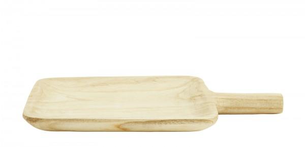 Madam Stoltz Tablett Schale Servierplatte Holz