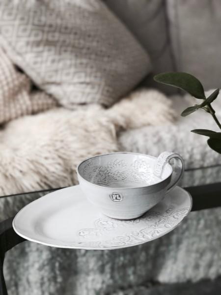 Big Cup Handmade weiss Petra Lunds Lera Keramik