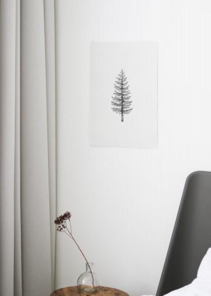 BAUMWOLLE Poster PINE TREE Nachhaltig durch BCI