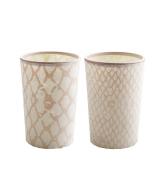 tinek Lotus Teelichthalter rosa 2er-Set