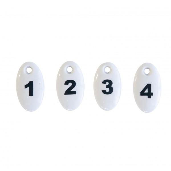 Bloomingville Zahlen Keramik 1-4 Vintage weiß