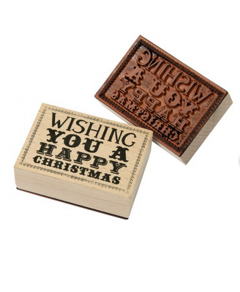 Stempel Weihnachten Wishing you a happy christmas