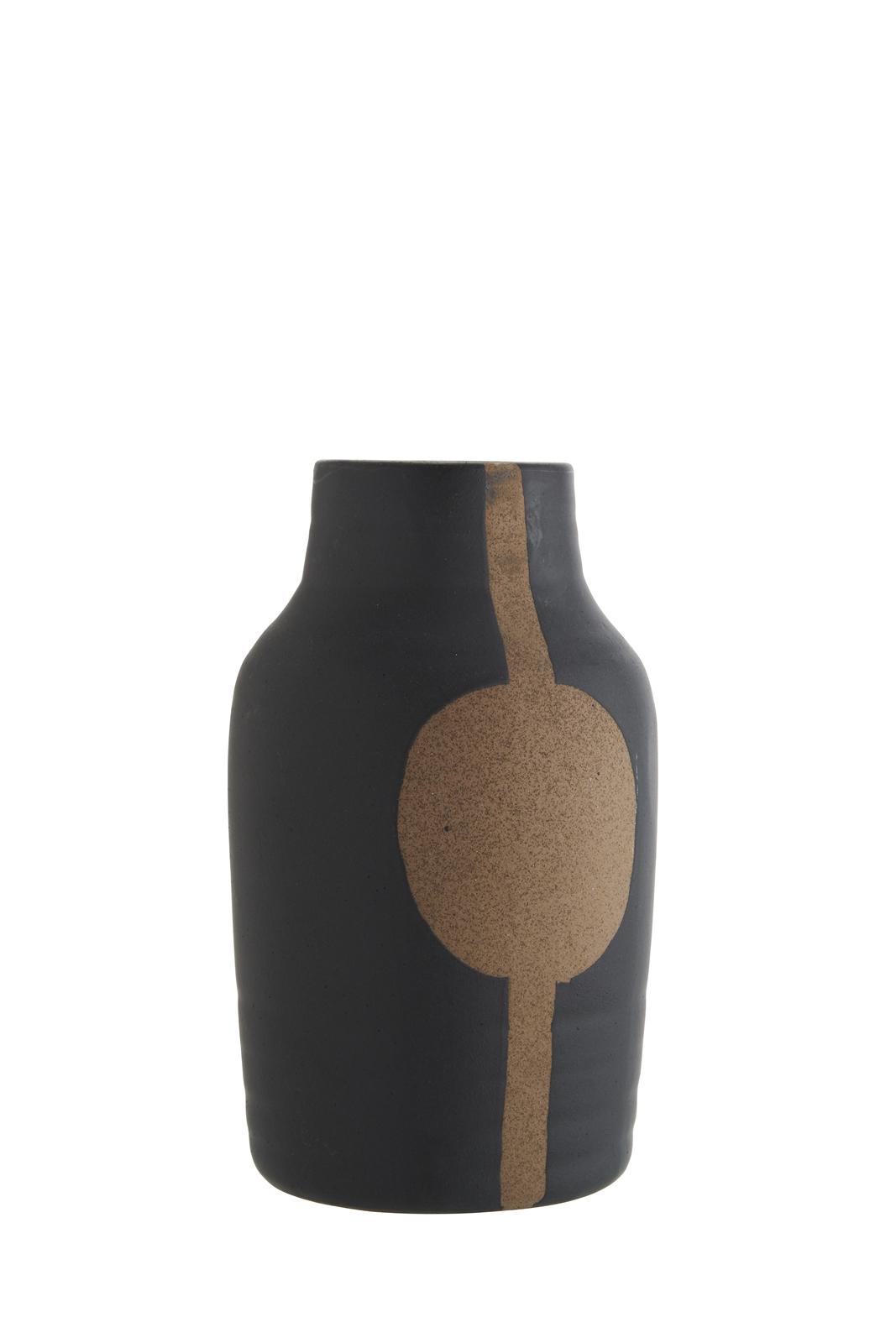 Madam-Stoltz-Blumenvase-Vase-schwarz-Ethno