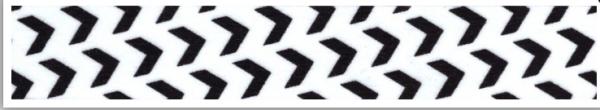 Washi Masking Tape Weiss/schwarze Pfeile