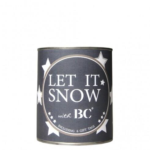 Let it snow Dose mit 6 Grußkarten  Bastion Collections