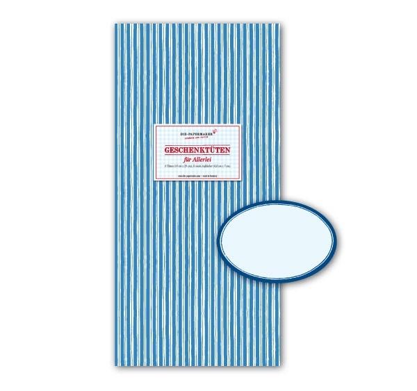 Geschenktüte Papiertüte blau - weiß