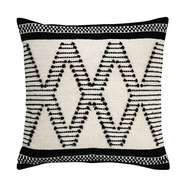 Hk living Kissen cushion aztec knots black/white
