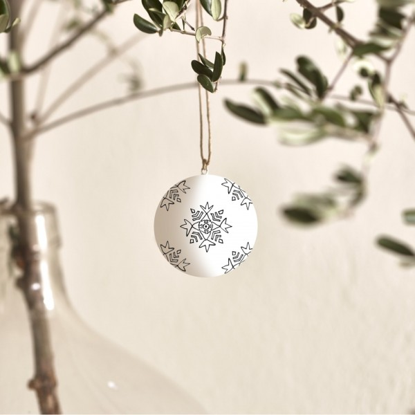 Atelier Sukha Christmas Flakes Weihnachtskugel