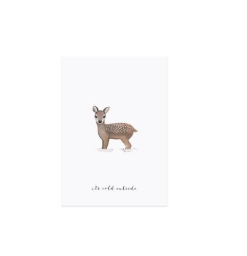 Postkarte REH Winter Weihnachten