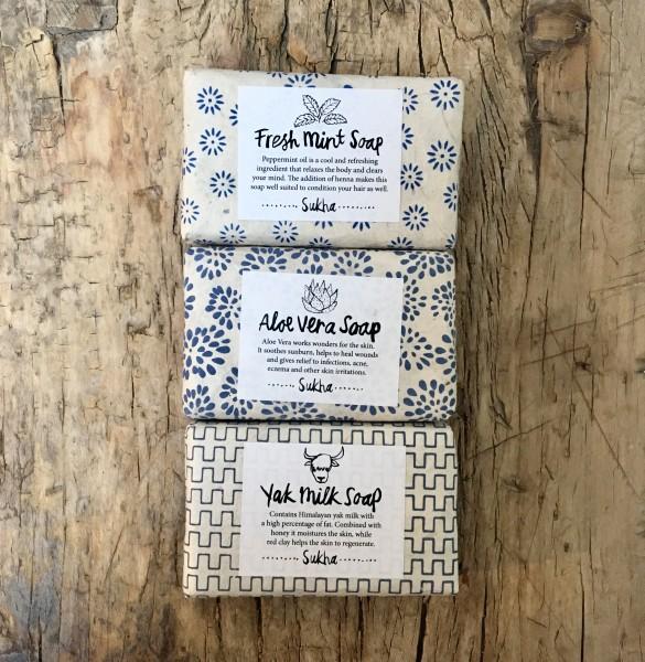 YAK MILK Soap Seife von Sukha Amsterdam 100% additive free.