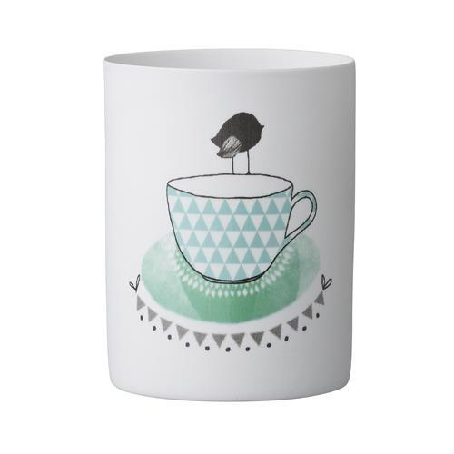 Bloomingville Teelicht Vogel auf Tasse