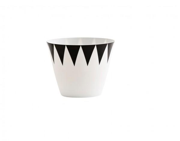 Black & White Porzellan Teelicht TRIANGLE Madam Stoltz