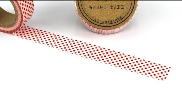 Tape Weiss mit kleinen roten Punkten