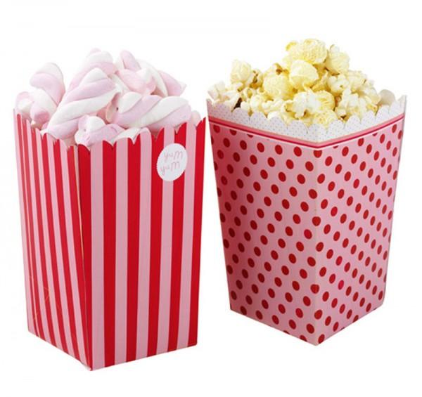 Popcorn Tüten pink