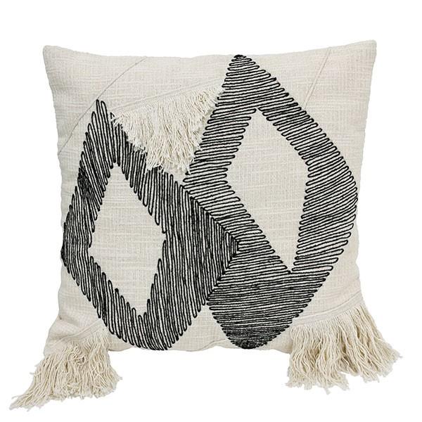 Hkliving cushion triangle black/white