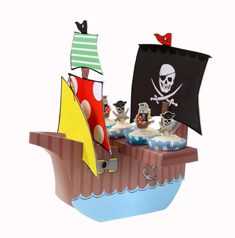 Piraten Geburtstag Kindergeburtstag Piratenschiff Cupcake