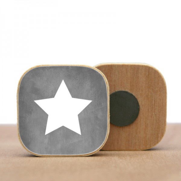 STERN Magnet Holz verschiedene Farben