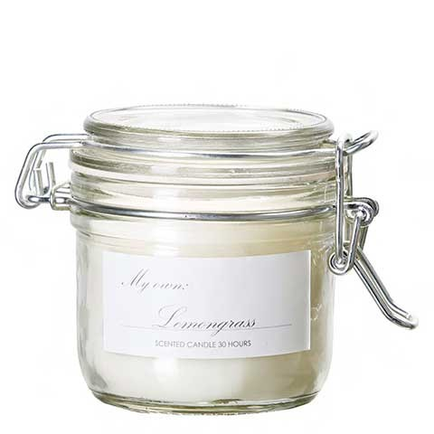 Duftkerze im Weckglas Lemongrass