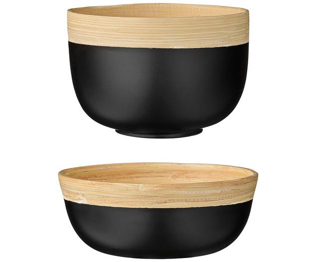 bloomingville sch ssel julie black 2er set lille sted. Black Bedroom Furniture Sets. Home Design Ideas