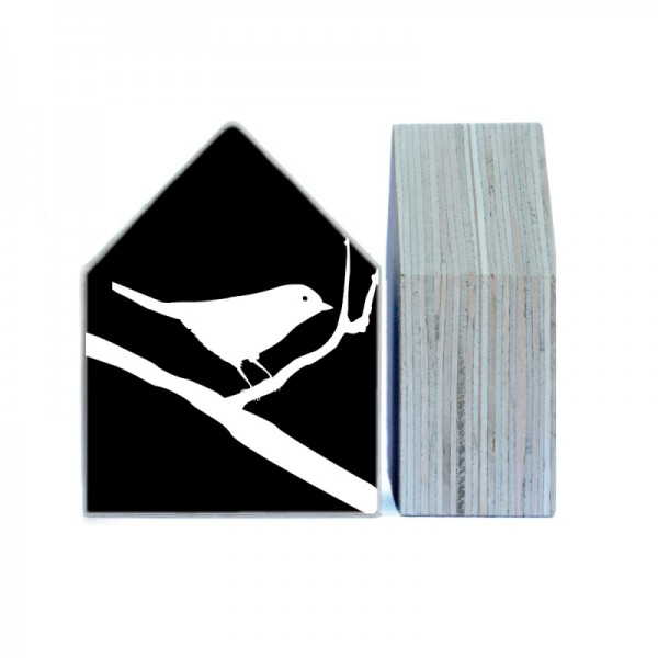 Black & White Dekohaus Holz Bird