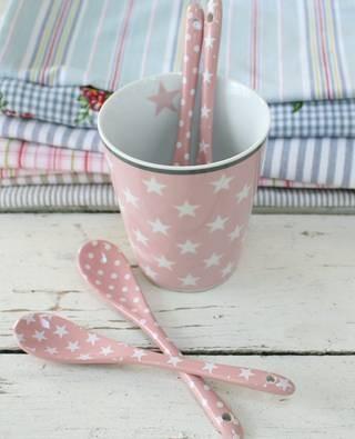 "LÖFFEL ""Happy Mugs"" Star pink Krasilnikoff"